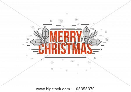 merry christmas decoration on white background