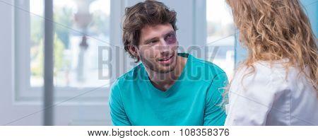 Man Flirting With Nurse