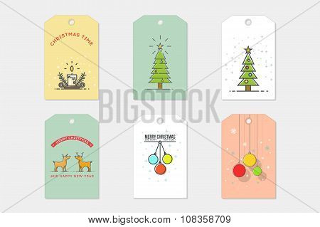 Set of Christmas Cards. Stock vector.