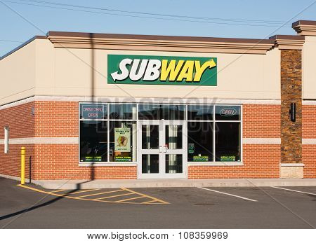 Subway Restaurant Storefront
