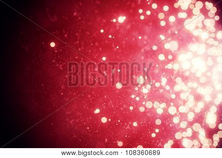 Digitally generated Light design shimmering on red