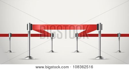 Presentation vector template with red ribbon