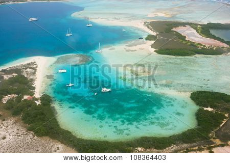 Tropical island from above