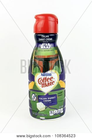 Bottle Of Nestle Coffee-mate Italian Sweet Cream
