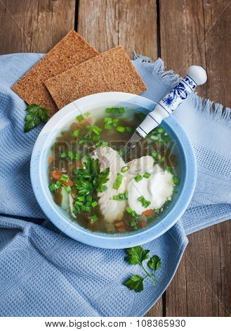 Hot Chicken And Sorrel Soup
