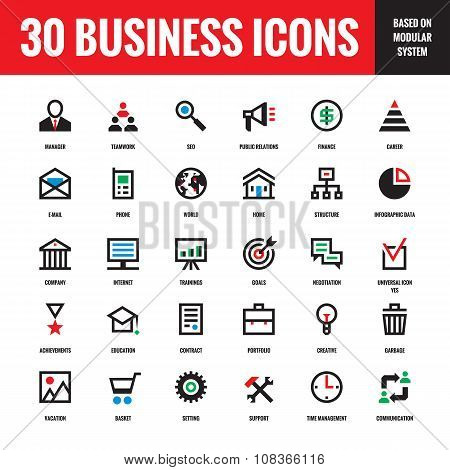 30 business creative vector icons