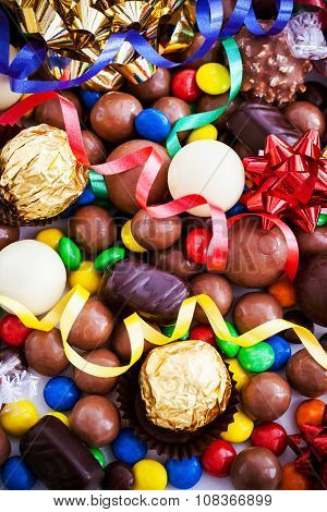 Assorted Of Different Chocolate Candy