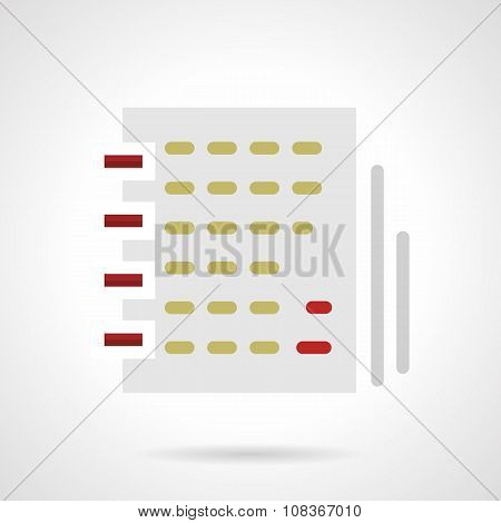Notebook with article flat color vector icon