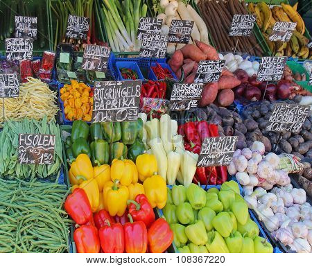 Organic Vegetables Market Stall