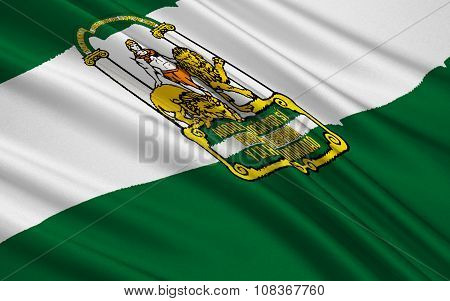 Flag Of Andalusia, Spain