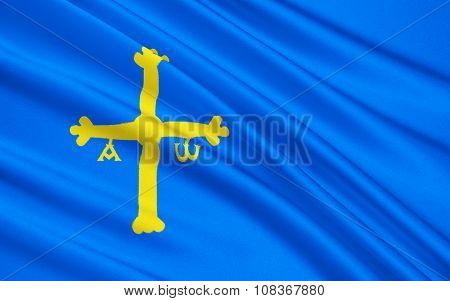 Flag Of Asturias, Spain