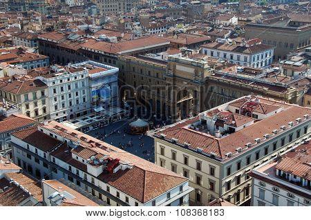 Piazza delle republica,Florence,Italy