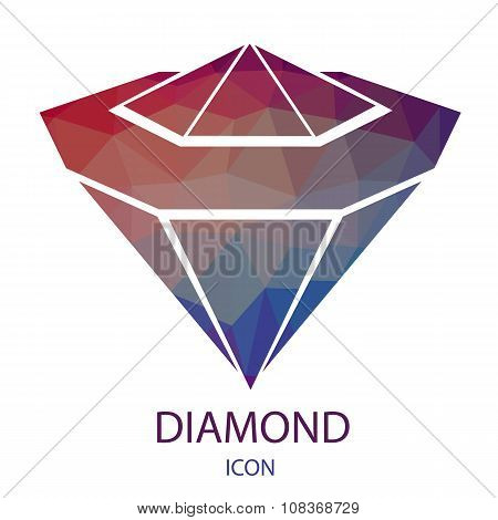 Diamond Icon. Jewerly Logo