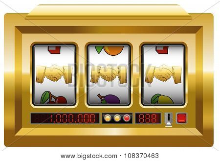 Golden Handshake Slot Machine