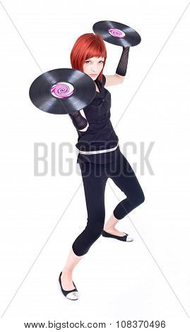 Vinyl Disco Girl