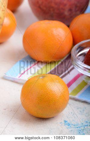 Fresh Organic Fruits ( Strawberry, Banana, Mandarin, Orange)