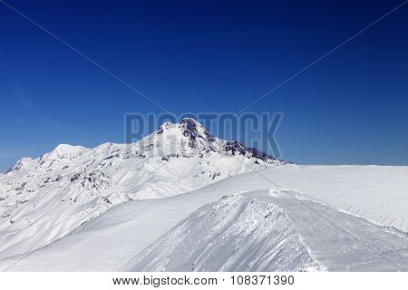 Views Of Mount Kazbek At Nice Sun Day