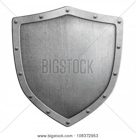 metal shield sign isolated