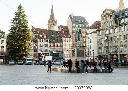 Crowd Attending Place Kleber, Strasbourg
