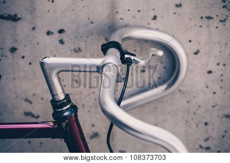 City Road Bicycle Handlebar Closeup, Vintage Style