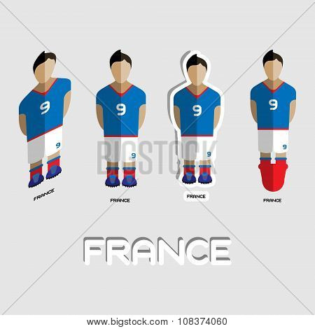 France Soccer Team Sportswear Template