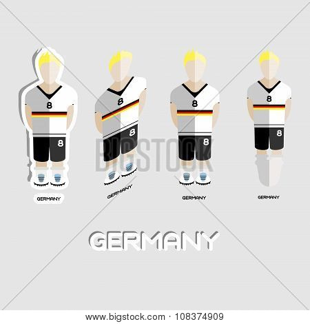 Germany Soccer Team Sportswear Template