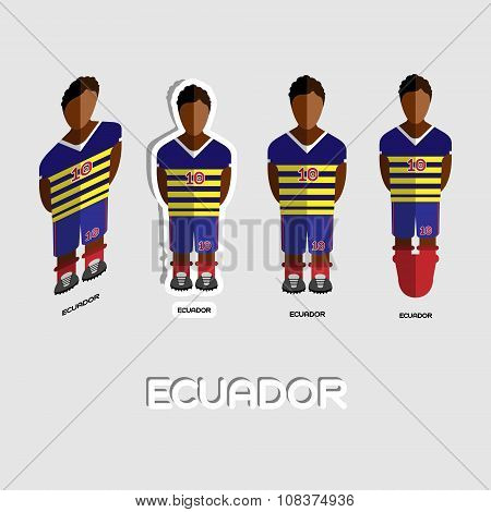 Ecuador Soccer Team Sportswear Template
