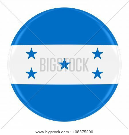 Honduran Flag Badge - Flag Of Honduras Button Isolated On White
