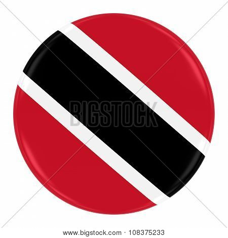 Trinidadian And Tobagonian Flag Badge - Flag Of Trinidad And Tobago Button Isolated On White