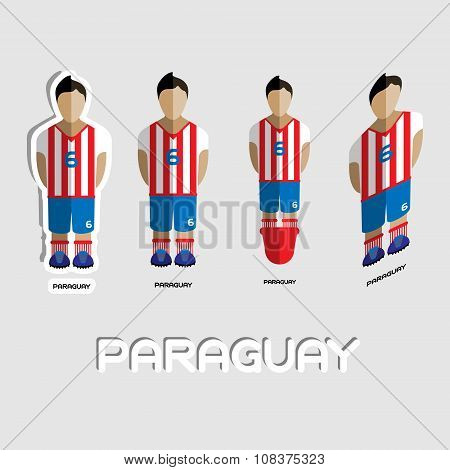 Paraguay Soccer Team Sportswear Template