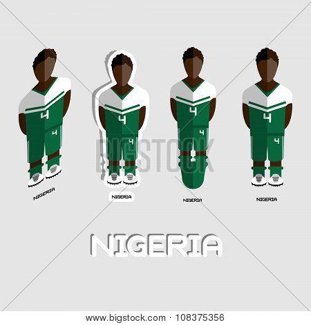 Nigeria Soccer Team Sportswear Template