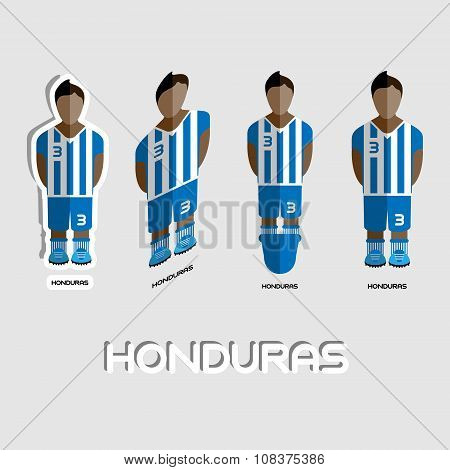 Honduras Soccer Team Sportswear Template