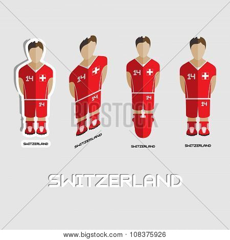 Switzerland Soccer Team Sportswear Template
