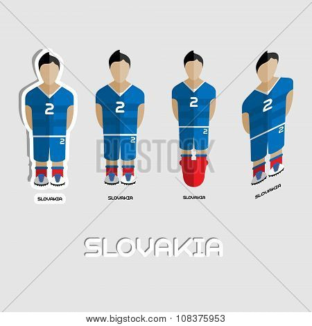 Slovakia Soccer Team Sportswear Template
