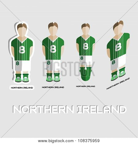 Northern Ireland Soccer Team Sportswear Template