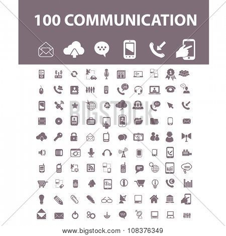 communication, connection, technology, mobile  icons, signs vector concept set for infographics, mobile, website, application