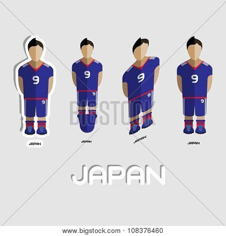 Japan Soccer Team Sportswear Template