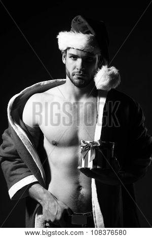 Muscular New Year Man