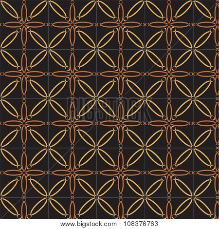 Abstract Geometric Vector Pattern In Natural Multiple Brown Colors. Elegant Vector Background