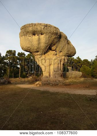 Unique Rock Formations In Enchanted City Of Cuenca, Castilla La Mancha, Spain