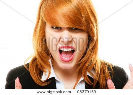 Angry Furious Woman Screaming