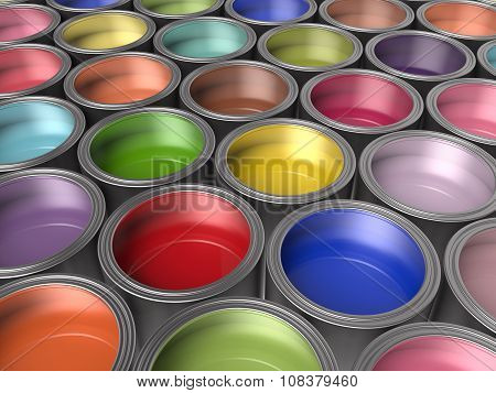 Paint Buckets Background