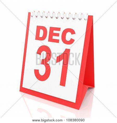 New year's eve calendar, 3d render