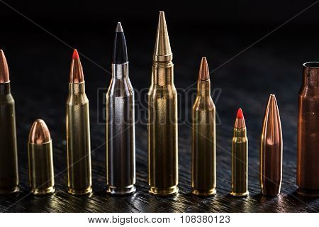 Number of large-caliber ammunition