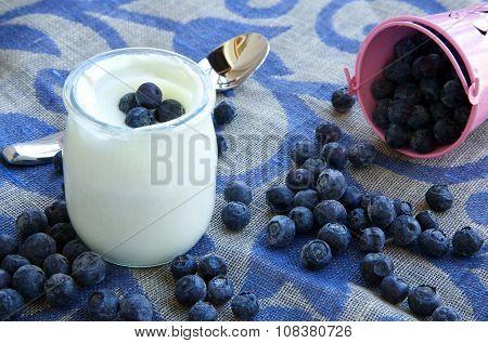 Natural Yogurt With Blueberries