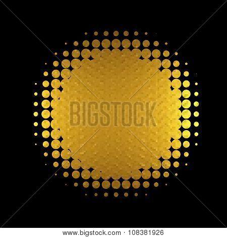Gold Banner Vector