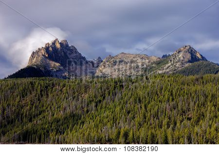 Braxon Peak In The Sawtooth Range.