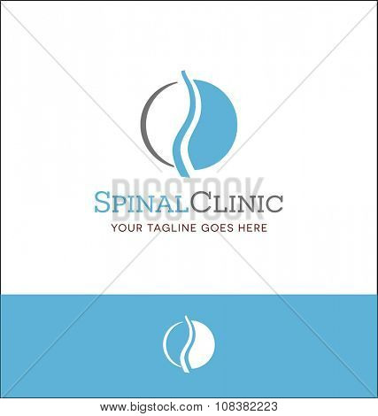 abstract spine logo for medical clinic or informative website