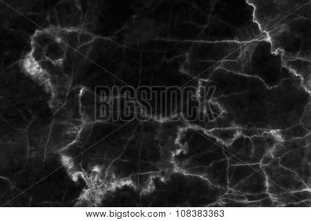 Black (dark) marble patterned (natural patterns) texture background.