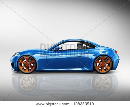 3D Sport Car Vehicle Transportation Illustration Concept